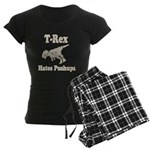 Vintage T-Rex hates Pushups Women's Dark Pajamas