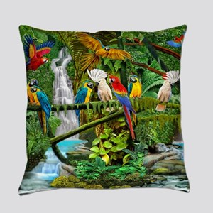 Parrots in Paradise Everyday Pillow