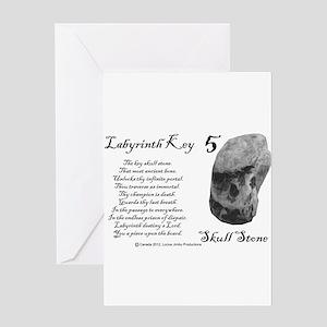 Skull Stone Greeting Card