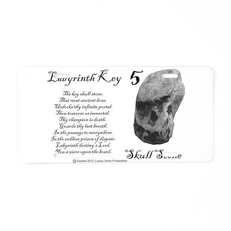 Skull Stone Aluminum License Plate