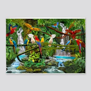 Parrots in Paradise 5'x7'Area Rug