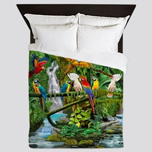 Parrots in Paradise Queen Duvet