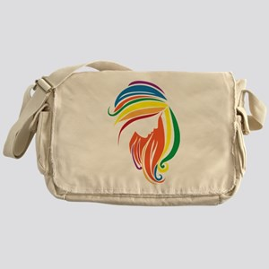 Woman Silhouette Messenger Bag
