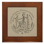 Celtic King Coin Framed Tile
