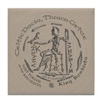 Celtic King Coin Tile Coaster