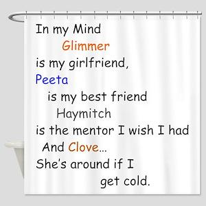 Glimmer GF/Peeta BF/Clove Cd 1 Shower Curtain