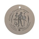 Celtic Chieftain Coin Ornament (Round)
