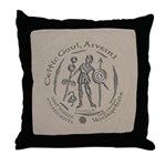 Celtic Chieftain Coin Throw Pillow