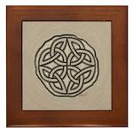 Celtic Knotwork Coin Framed Tile