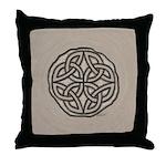 Celtic Knotwork Coin Throw Pillow