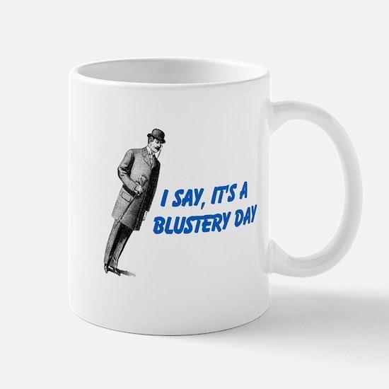 Blustery Day (blue) Mug