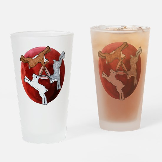 Cool Hare Drinking Glass