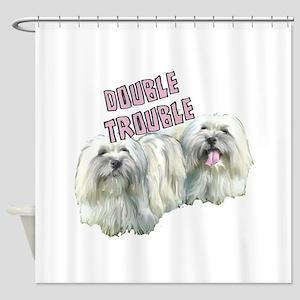 Double Trouble Coton de Tulea Shower Curtain