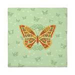Celtic Butterfly Queen Duvet Cover