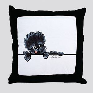 Affen Over the Line Throw Pillow