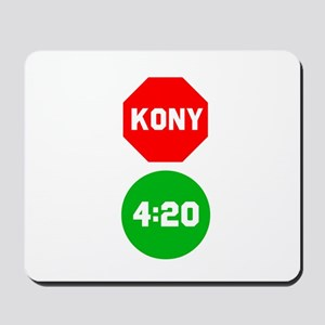 Stop Sign Kony Go 420 Mousepad