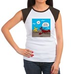 Star and Lobster Bragging Women's Cap Sleeve T-Shi