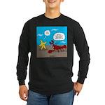 Star and Lobster Bragging Long Sleeve Dark T-Shirt