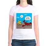 Star and Lobster Bragging Jr. Ringer T-Shirt