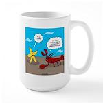 Star and Lobster Bragging Large Mug