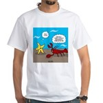Star and Lobster Bragging White T-Shirt
