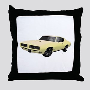 1968 GTO Mayfair Maize Throw Pillow