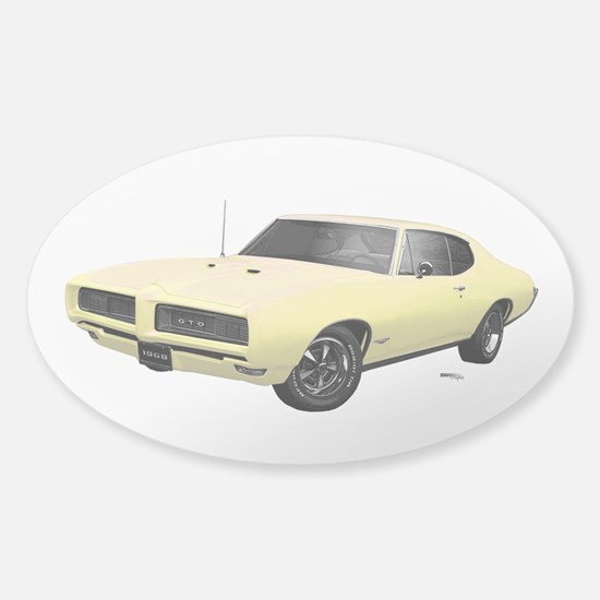 1968 GTO Mayfair Maize Sticker (Oval)