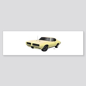 1968 GTO Mayfair Maize Sticker (Bumper)