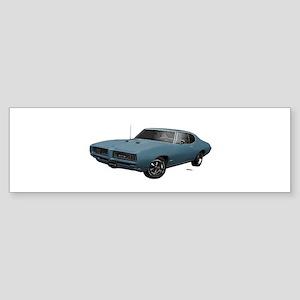 1968 GTO Aleutian Blue Sticker (Bumper)