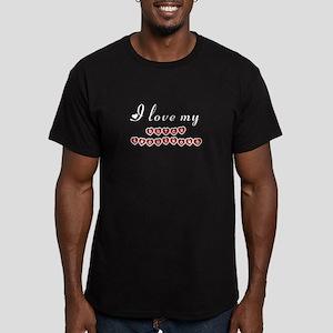 I love my Dutch Smoushond Men's Fitted T-Shirt (da