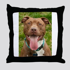 Pit Bull 13 Throw Pillow