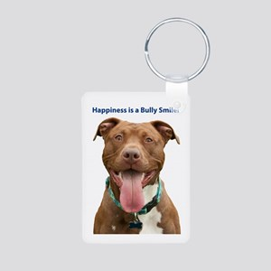 Pit Bull 14 Aluminum Photo Keychain