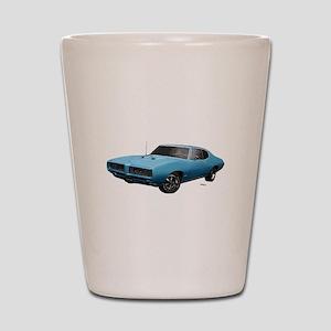 1968 GTO Meridian Turquoise Shot Glass