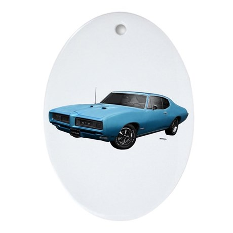 1968 GTO Meridian Turquoise Ornament (Oval)