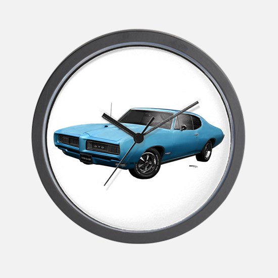 1968 GTO Meridian Turquoise Wall Clock