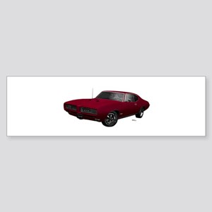1968 GTO Flambeau Burgundy Sticker (Bumper)