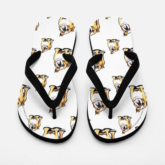 Lotsa English Bulldogs Flip Flops