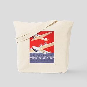 New York Municipal Airports Tote Bag