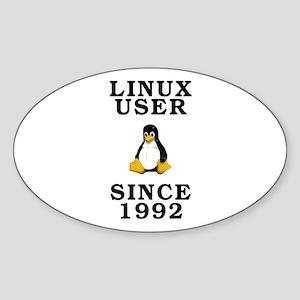 Linux user since 1992 - Sticker (Oval)