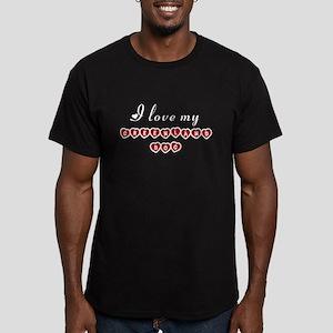 I love my Greenland Dog Men's Fitted T-Shirt (dark