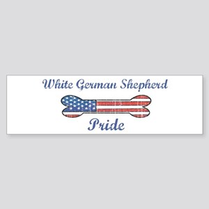 White German Shepherd Pride Bumper Sticker