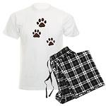 Pet Paw Prints Men's Light Pajamas