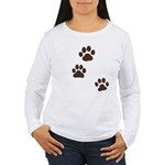 Pet Paw Prints Women's Long Sleeve T-Shirt