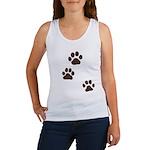 Pet Paw Prints Women's Tank Top