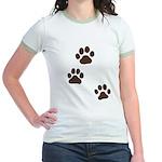 Pet Paw Prints Jr. Ringer T-Shirt