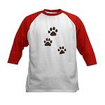 Pet Paw Prints Kids Baseball Jersey