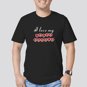 I love my Irish Doodle Men's Fitted T-Shirt (dark)