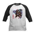 Snake and cherry Kids Baseball Jersey