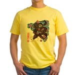 Snake and cherry Yellow T-Shirt