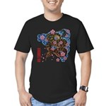 Snake and cherry Men's Fitted T-Shirt (dark)